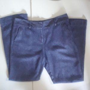 Ann Taylor Loft Linen Chambray Pants Modern 10